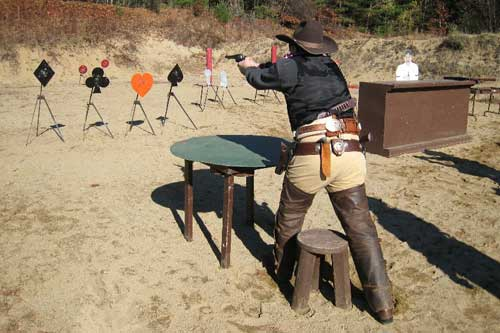 Shooting a suit of targets.